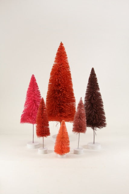 Red Trees set of 6