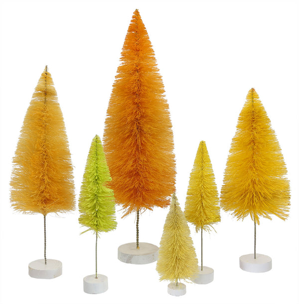 Yellow Trees Set of 6