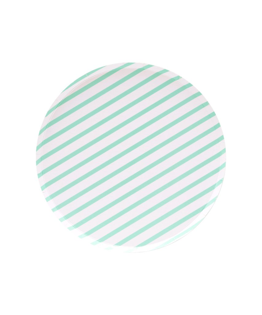 Mint Stripes 7in Plates
