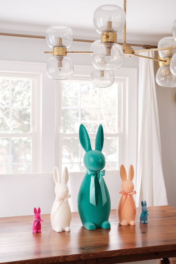 Small Flocked Bunny