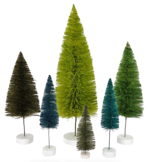 Green Trees Set of 6