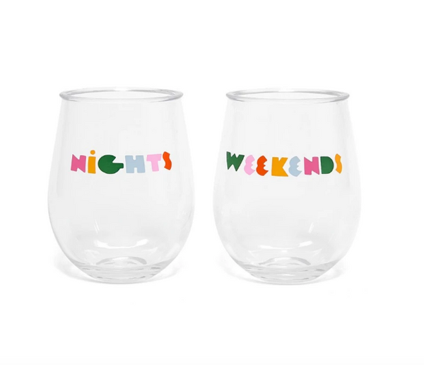 Nights & Weekends Wine Glasses