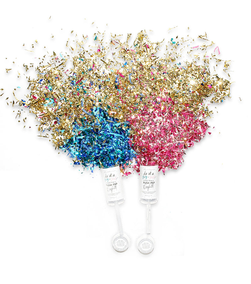 Gender Reveal Confetti Pops