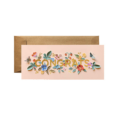 Cut Flowers Congrats Card