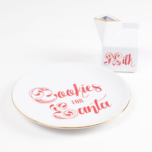 Milk & Cookies Plate Set