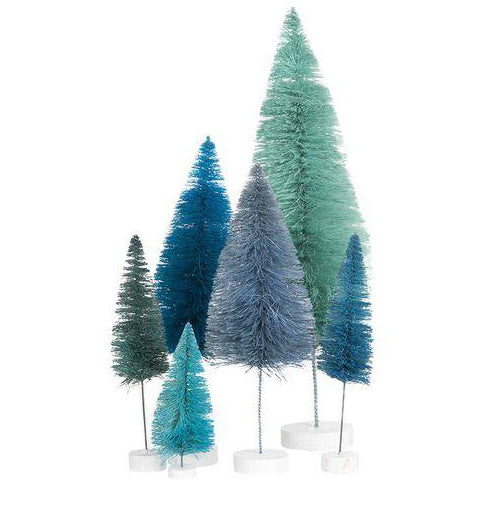 Blue Trees Set of 6