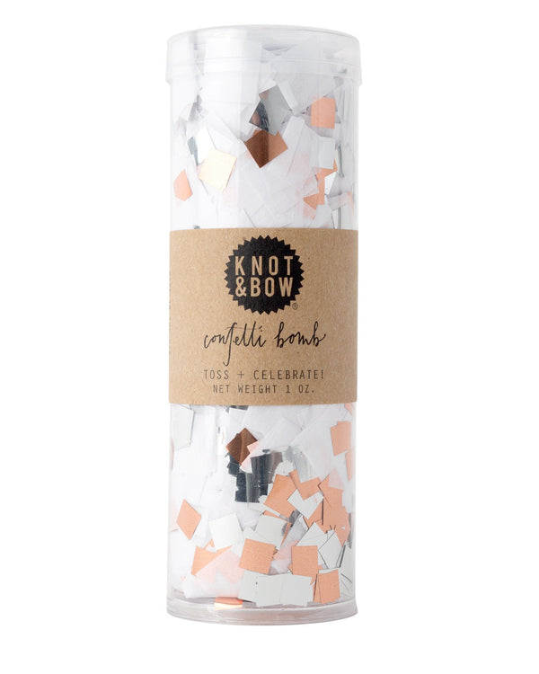 White Copper Confetti Bomb