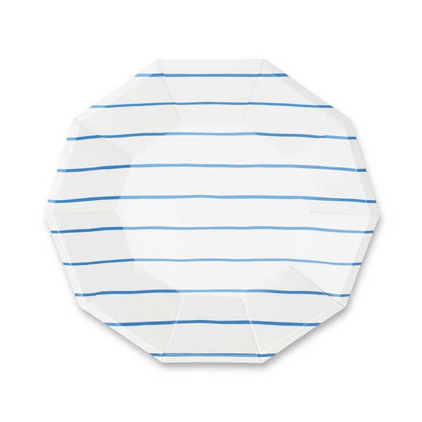 Cobalt Striped Large Plates