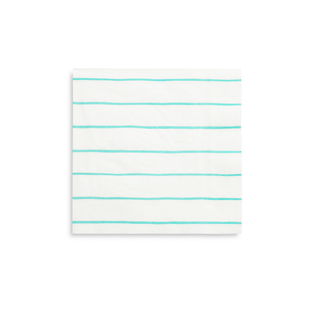 DS Aqua Striped Napkins