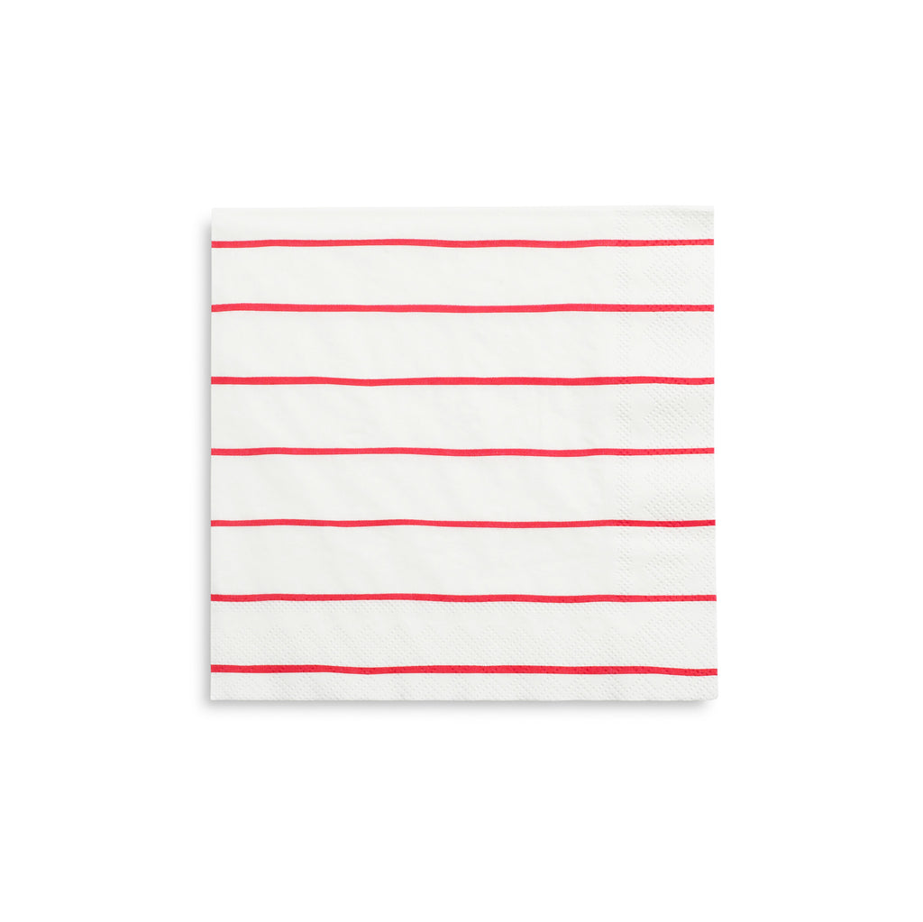 Candy Apple Striped Napkins