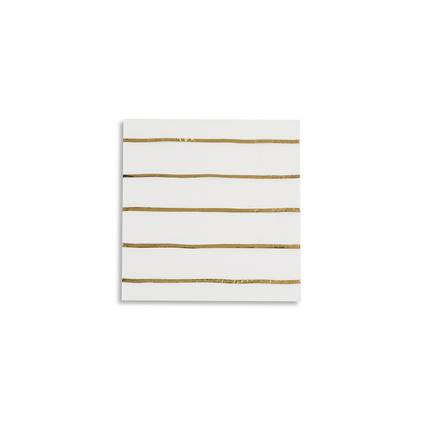 Gold Metallic Striped Petite Napkins