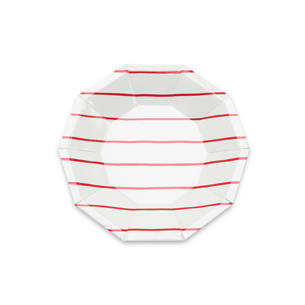 Candy Apple Striped Small Plates