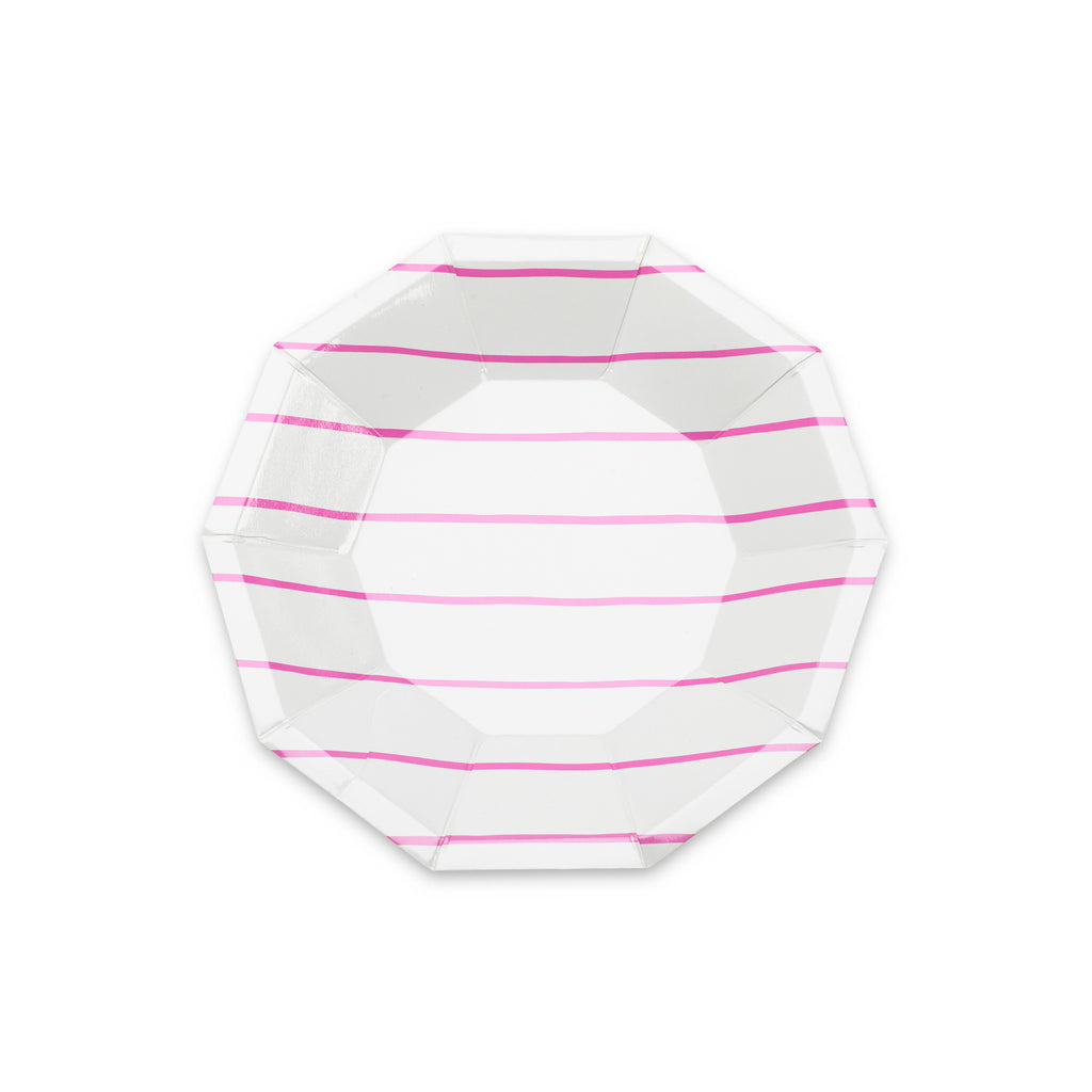 Cerise Striped Small Plates