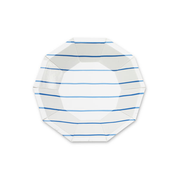 Cobalt Striped Small Plates