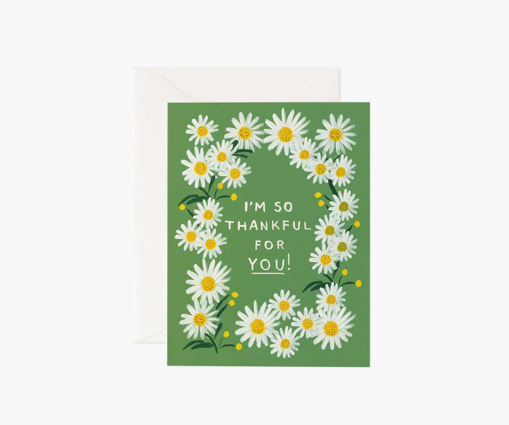 Daisies Thankful for You Thank You Card