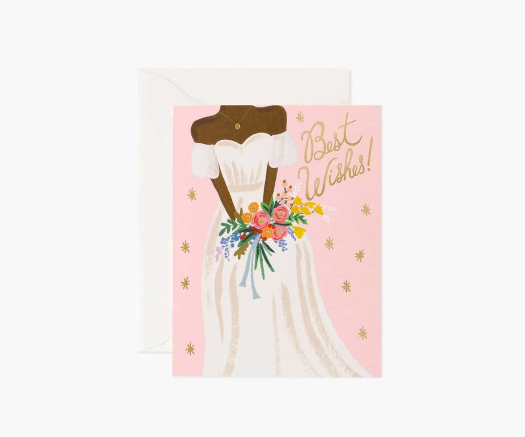 Beautiful Bride Rose Wedding Card