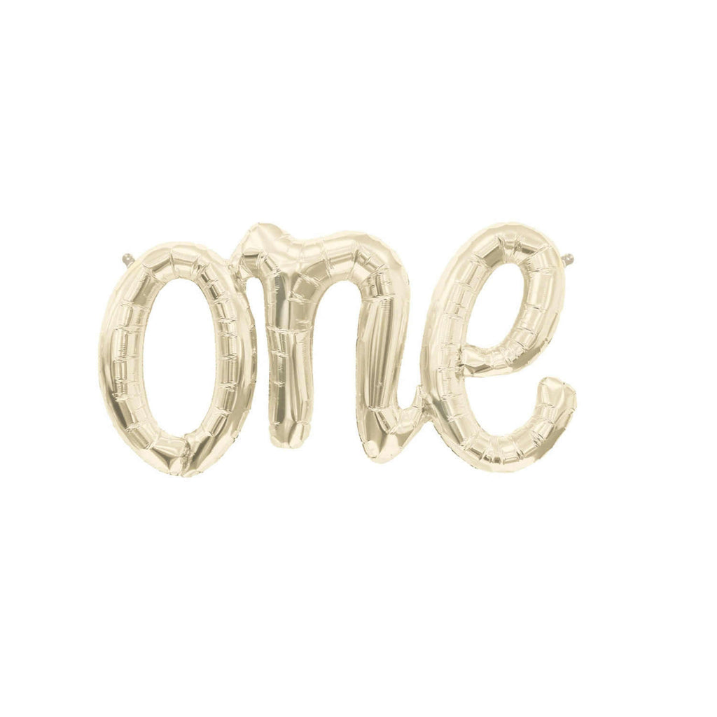 """One"" Script White Gold"