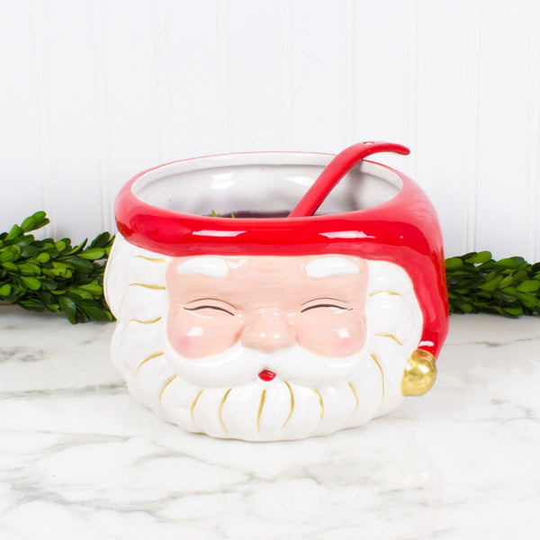 Red Santa Punch Bowl