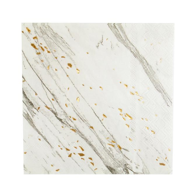 White Marble Napkins Large