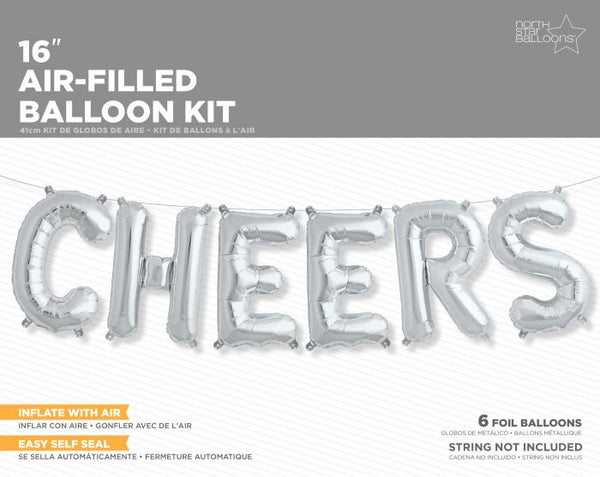 """Cheers"" Silver Balloon"