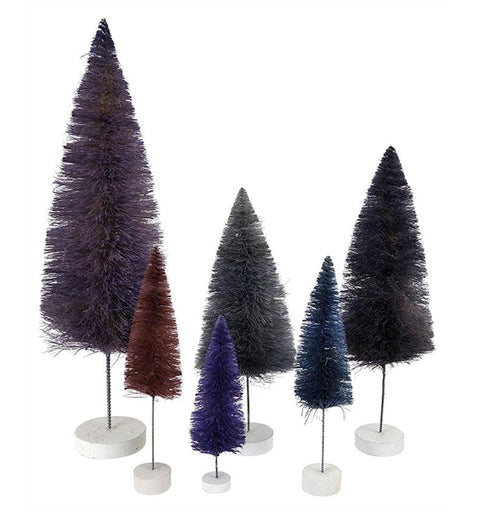 Purple Trees Set of 6