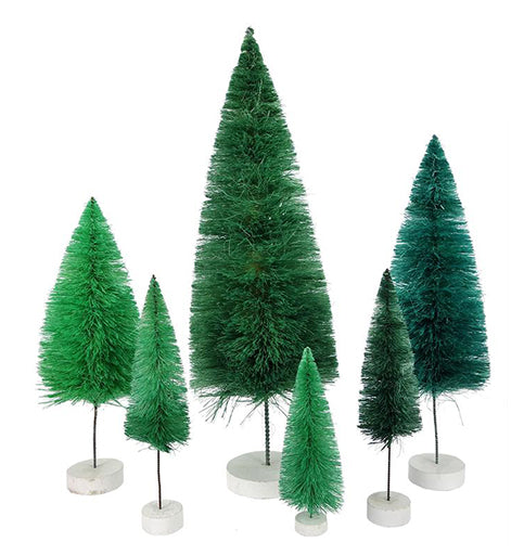 Teal Trees Set of 6