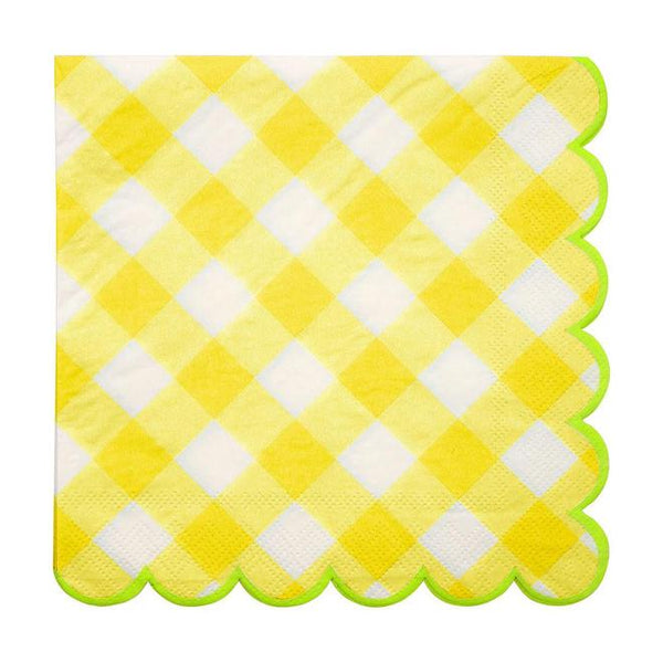 Yellow Gingham Large Napkins