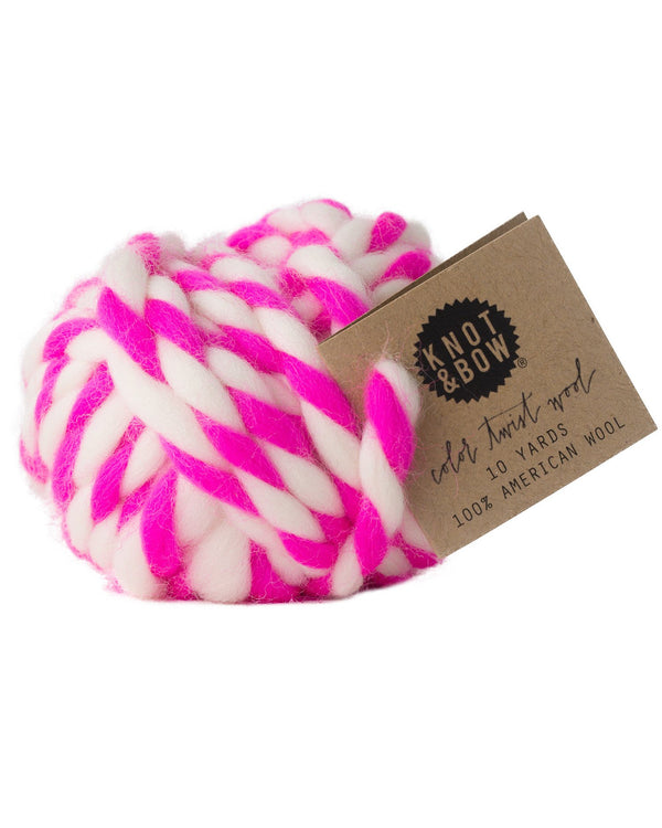 Hot Pink Wool Ball