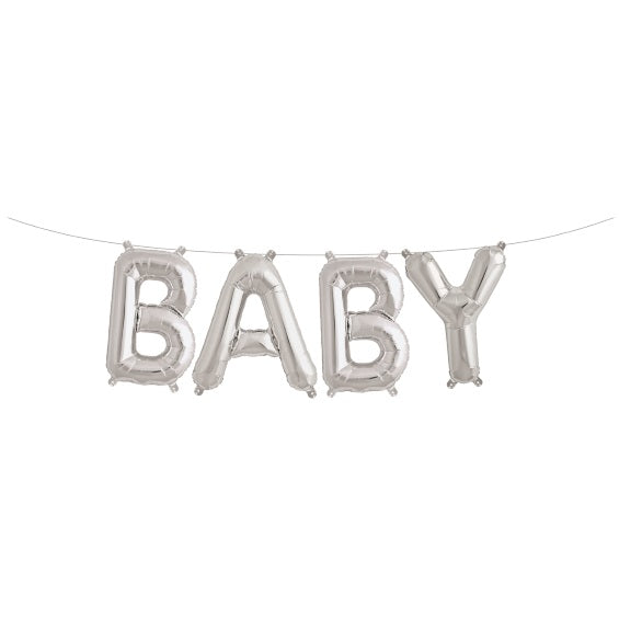 Baby Balloon Kit Silver