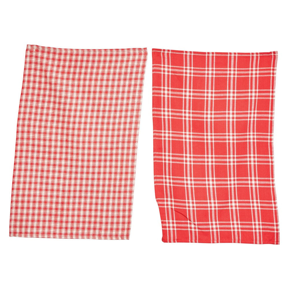 Red Check Tea Towel