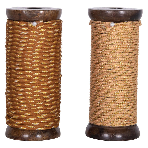 10 yards Ribbon - Tall Spool Gold Metallics