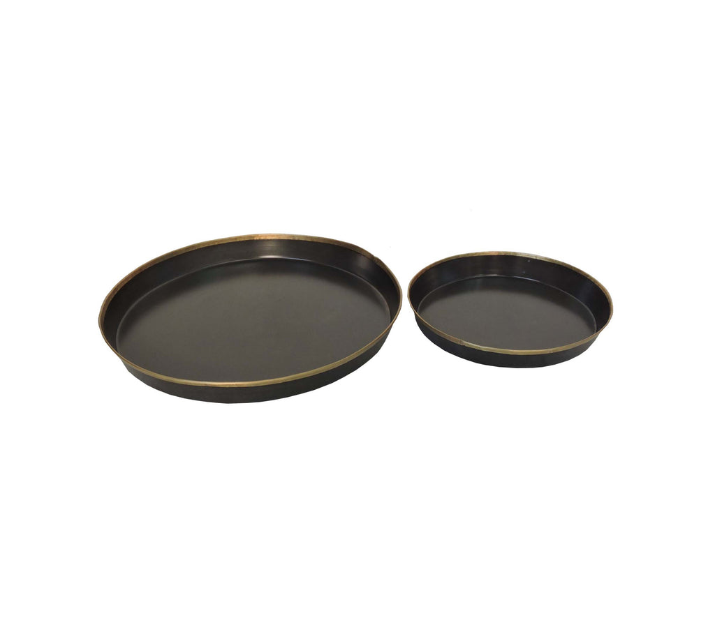 Zinc & Brass Plates (set of 2)