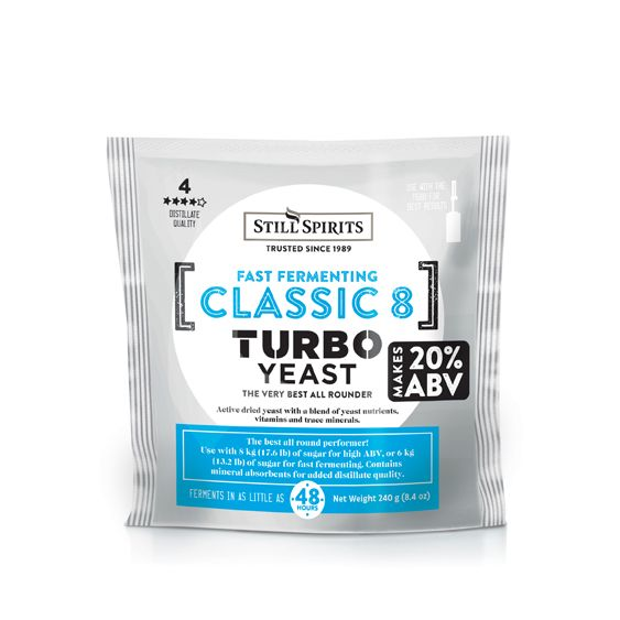 Classic 8 Turbo Yeast – Still Spirits