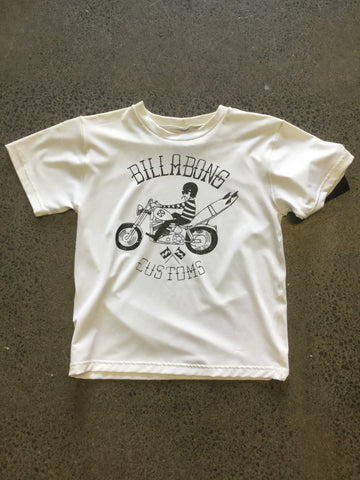 Billabong Custom S/S Rash Shirt - White