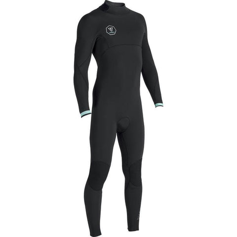 Vissla 7 Seas 4/3mm Back Zip Steamer - Black