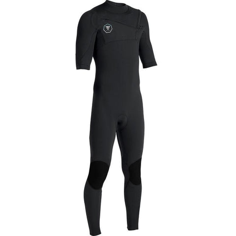 Vissla Mens 7 Seas 2/2 Short Sleeve Full Suit - Black with Jade