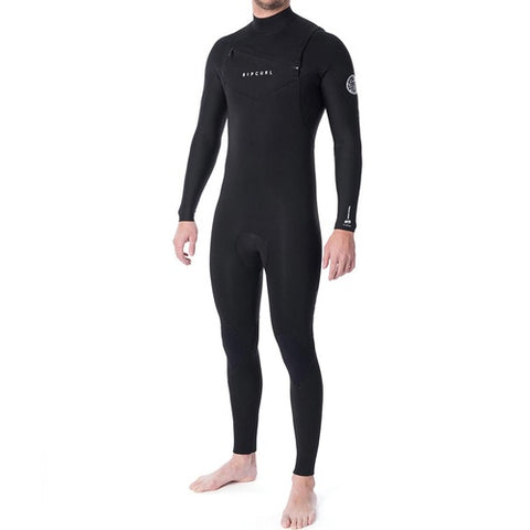 2020 Rip Curl Dawn Patrol 4/3mm Chest Zip Wetsuit Steamer - Black