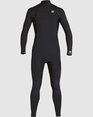2020 Billabong FURNACE REVOLUTION 3/2 CHEST ZIP STEAMER - Black
