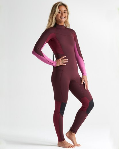 2020 Billabong Womens FURNACE SYNERGY 3/2 BACK ZIP - Maroon