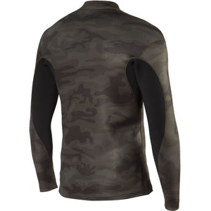 Vissla 2mm Solid Sets Front Zip Jacket - Camo