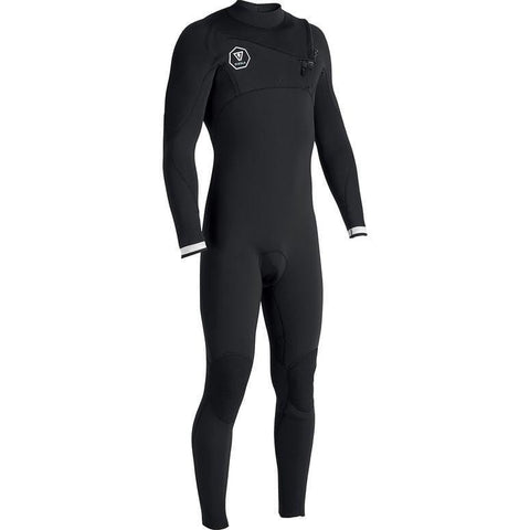 Vissla Mens 7 Seas 3/2mm Steamer - Black/White