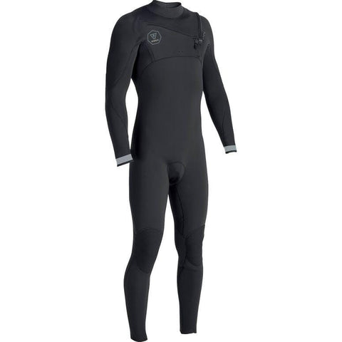 VISSLA MENS 7 SEAS 2/2 FULL CHEST ZIP- BLACK FADE