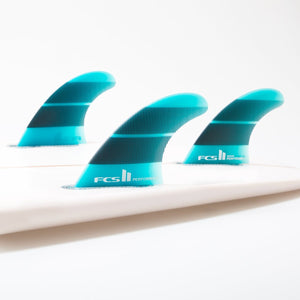 2019 FCS II Performer Neo Glass Thruster Fins - Teal