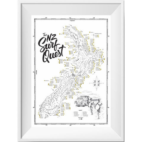 The NZ Surf Quest Print