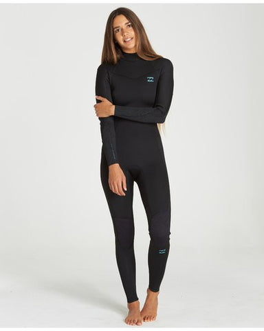 2020 Billabong Womens 4/3 Furnace Synergy Back Zip Steamer - Black
