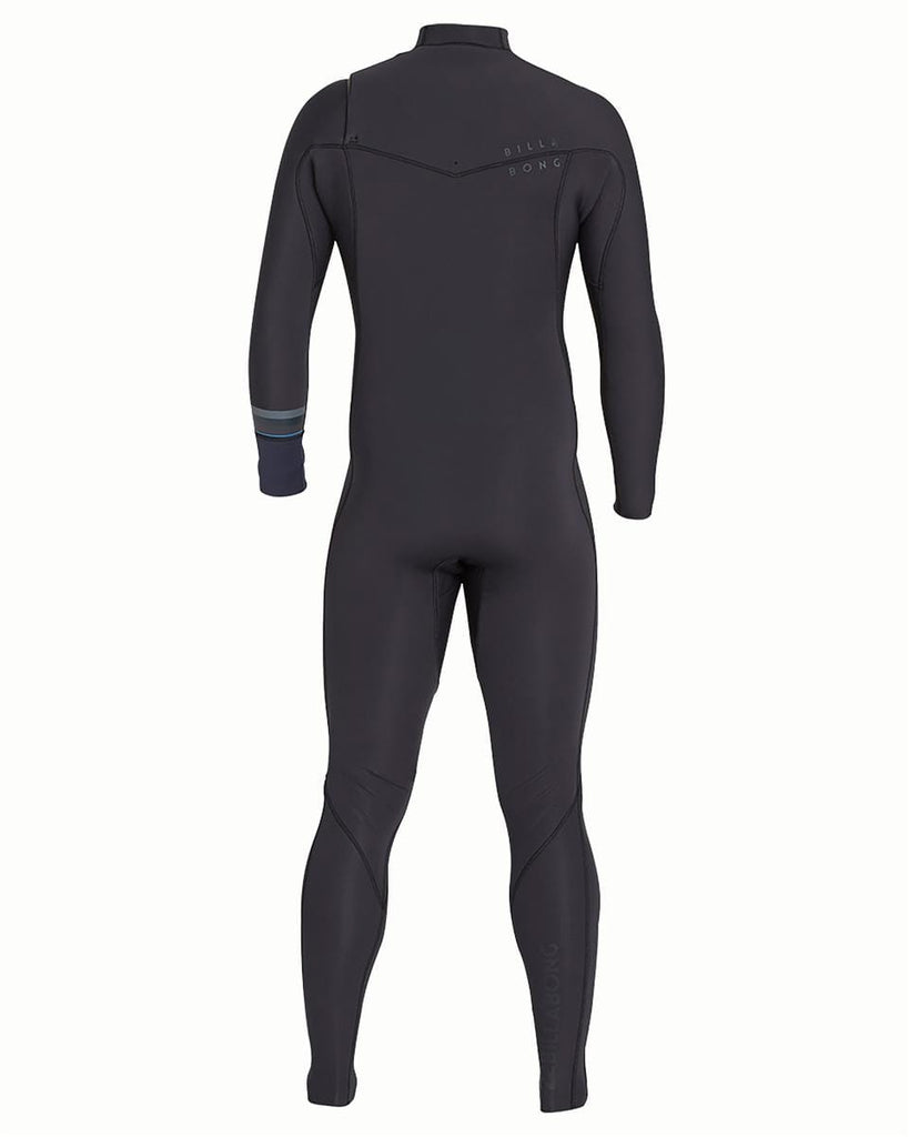 BILLABONG BOYS REVOLUTION 4/3 CHEST ZIP STEAMER - BLACK SANDS