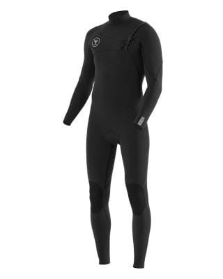 Vissla Mens 7 Seas 2/2 Full Suit Chest Zip - Black with Jade