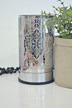 Load image into Gallery viewer, Silver Mandela Touch Electric Melt Warmer