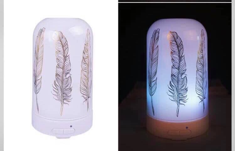 White Tribal Feather Diffuser