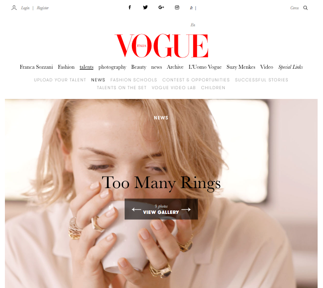 Vogue Talents - Online
